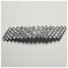 Rhinestone Hair Barrette 5 Row Stones Silver/crystal